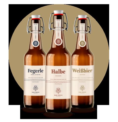 hausgebraute Biere - Bierflaschen